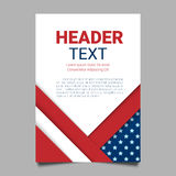 USA patriotic background. Vector illustration with text, stripes and stars for posters, flyers. Colors of american flag. Stock Images
