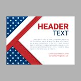 USA patriotic background. Vector illustration with text, stripes and stars for posters, flyers, decoration in colors of Vector Illustration
