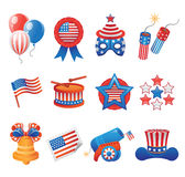 USA Patriotic Icons Royalty Free Stock Photography