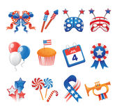 USA Patriotic Icons Stock Photo