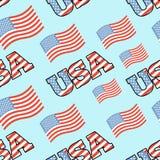 USA patriotic seamless pattern. American flag texture. Backgroun Royalty Free Stock Photos