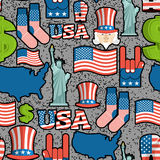USA patriotic symbol seamless pattern grunge style. Spray paint Royalty Free Stock Photo