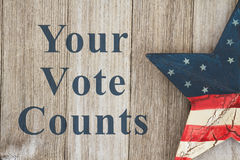 USA patriotic voting message Royalty Free Stock Images