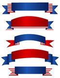 USA patriotiskt baner/baner Arkivbild