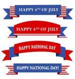 USA patriotiskt baner/baner Royaltyfri Bild