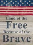 USA patriotiskt meddelande Arkivfoton