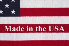 USA patriotyczna wiadomość robić w USa Zdjęcia Stock