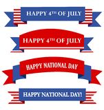 USA patriotyczny sztandar, sztandary/ Obraz Royalty Free