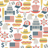 USA pattern Stock Photo