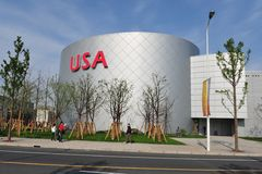 USA Pavilion in Expo2010 Shanghai China Stock Image