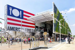 USA pavilion exterior at EXPO 2015 in Milan, Italy Stock Image