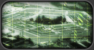 USA Penntagon som (simulerad) räckviddtarge, Royaltyfri Bild