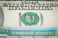 USA Permanent Resident card aka Green Card Stock Photography