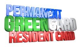 USA permanent resident card 3D render. Illustration Stock Image