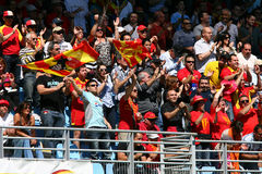 USA Perpignan's fans Stock Photography