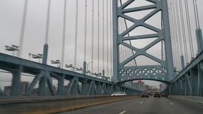 USA Philadelphia Benjamin Franklin Bridge Royalty Free Stock Photography