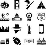 USA pictograms Royalty Free Stock Photo