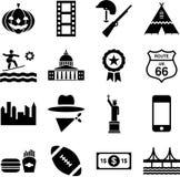 USA-Piktogramme Lizenzfreies Stockfoto