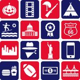 USA-Piktogramme Lizenzfreies Stockbild
