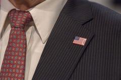 Usa pin on formal president dress Stock Image