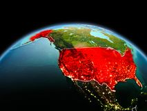 USA on planet Earth in space Royalty Free Stock Photo