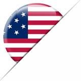 USA Pocket Flag. Nice envelope with a circular USA flag in it Royalty Free Stock Photos