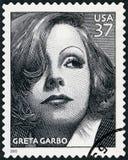 USA - 2005: pokazuje portret Greta Garbo Lovisa Gustafsson, seria wieka filmy (1905-1990) obraz stock