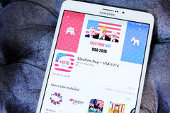 USA political election day 2016 app Royalty Free Stock Images