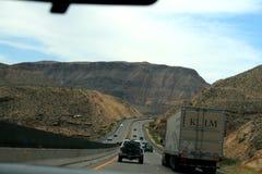 USA Popielate góry w Nevada lub Utah obraz stock