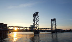 USA, Portsmouth, New Hampshire-Brücke Stockbilder