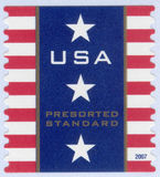 USA postage stamp. United States postage stamp presorted standard bulk from 2007 Stock Photos