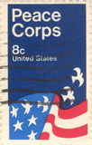 USA postage stamp. United States Postage 8 cent stamp Peace Corps Royalty Free Stock Photo