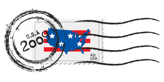 USA postage stamp. Stamped usa stamp. Includes 2009 and new postal rate Royalty Free Stock Photo