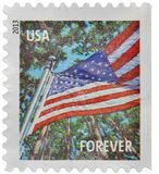USA postage stamp. 2013 USA FOREVER postage stamp. America. American symbol. American flag. United States of America. Power. The land of the free and the home of Royalty Free Stock Images