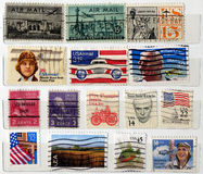 USA postage stamps Stock Photo