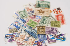 Usa postage stamps royalty free stock photos