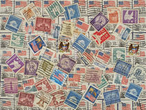 USA postage stamps. Background. Royalty Free Stock Photos