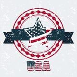 USA poster Stock Photos