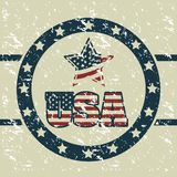 USA poster Stock Images