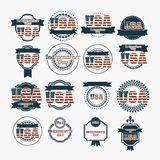 USA poster Stock Photos