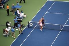 USA, öppna tennis - Maria Sharapova Royaltyfri Fotografi