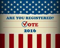 USA-Präsidentschaftswahl - Schablone Lizenzfreies Stockbild