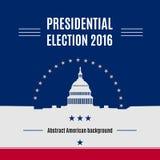 USA-Präsidentschaftswahltagesfahne Stock Abbildung
