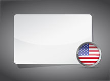 USA presentation board Stock Photo