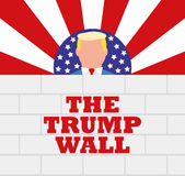 USA President Donald Trump and His Border Wall stock photo