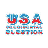 USA presidental election typography. Political debate in America Stock Image