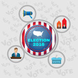 USA Presidential Election 2016 Banner Stock Photos