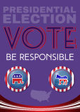 Usa Presidential Election Be Responsable Banner Stock Photography