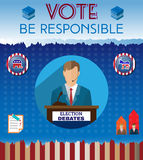 USA Presidential Election Be Responsible Banner Royalty Free Stock Image