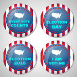 Usa Presidential Election Campaign Badges Stock Images